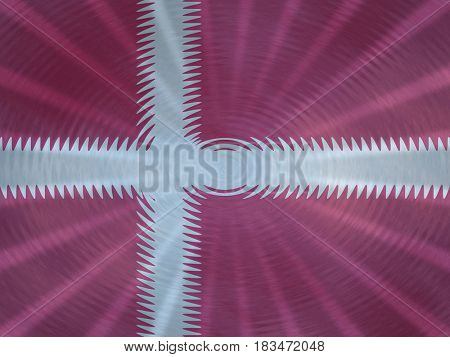 Denmark flag background with ripples and rays illustration