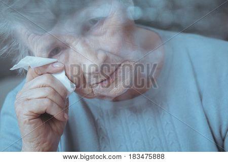 Sad, Lonely Senior Woman