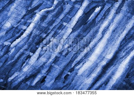 Abstract Watercolor Background With Blue Layers