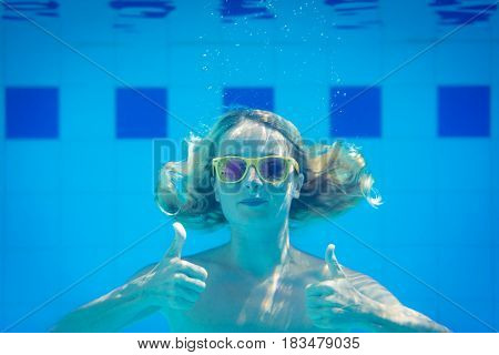 Underwater Portrait Of Woman