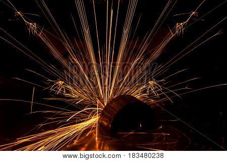 Image of flowing sparks, abstract background
