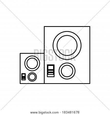 music baffle speaker icon vector illustration graphic design