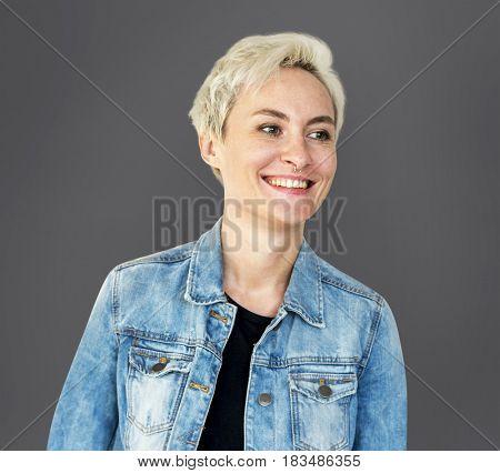 Woman Portrait Face Smiling Expression