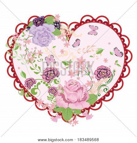Vintage Roses Ornament And Heart
