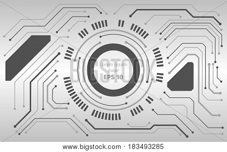 Abstract vector digital technologies illustration. Computer motherboard background. Hi tech modern Science fiction technical  theme. Electronic hardware concept.