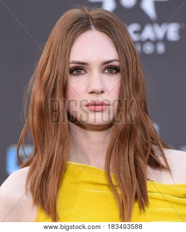 LOS ANGELES - APR 19:  Karen Gillan arrives for the