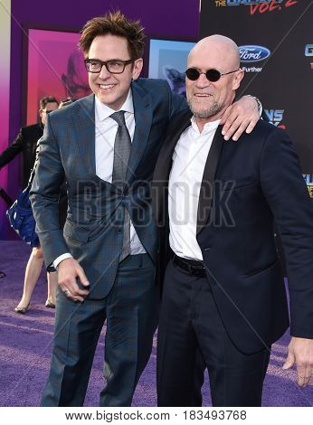 LOS ANGELES - APR 19:  James Gunn and Michael Rooker arrives for the