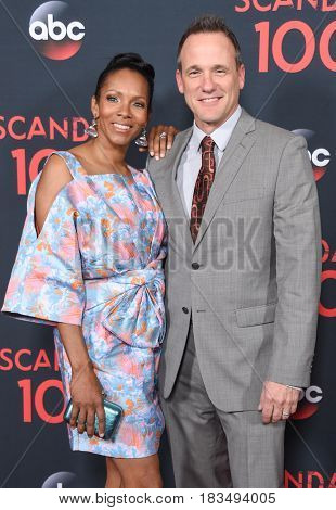 LOS ANGELES - APR 08:  Tom Verica and Kira Arne arrives to the