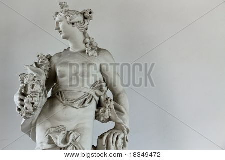 Bare Breasted Greek Statue