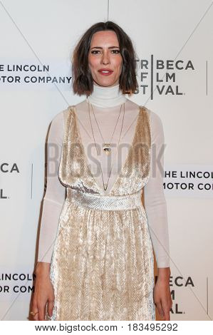 NEW YORK, NY - APRIL 24: Actress Rebecca Hall attends 'The Dinner' Premiere at BMCC Tribeca PAC on April 24, 2017 in New York City