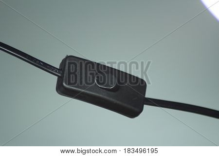 This is black toggle switch and electrical cable