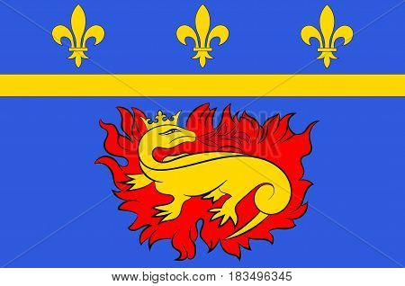 Flag of Vitry-le-Francois is a commune in the Marne department in north-eastern France.