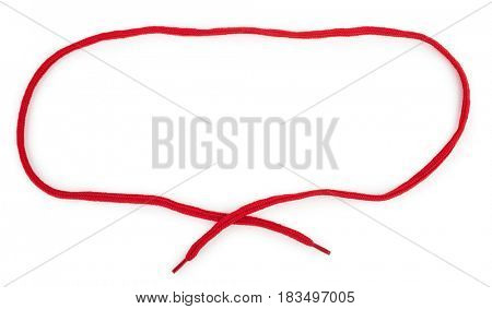 Frame a red shoelace