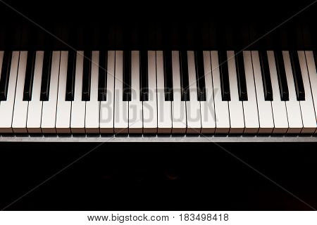 Photo of piano shooting in a studio