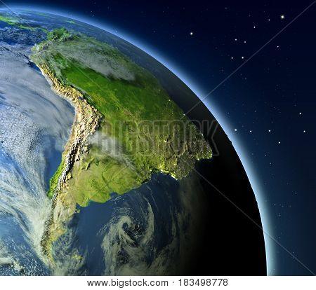 South America From Orbit