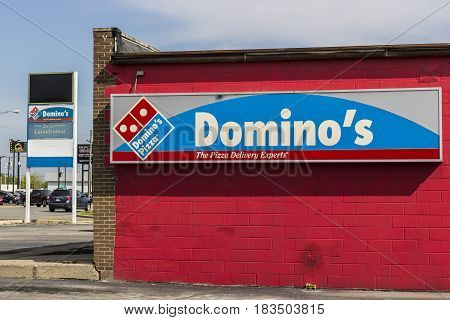 Marion - Circa April 2017: Domino's Pizza Carryout Restaurant. Domino's is 97% franchise-owned with 840 independent franchise owners VIII