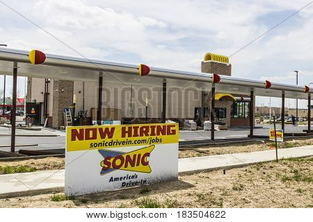 Kokomo - Circa April 2017: Sonic Drive-In Fast Food Location Under Construction. Sonic is a Drive-In Restaurant Chain V