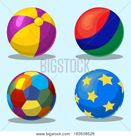 Colorful children s inflatable ball in vector
