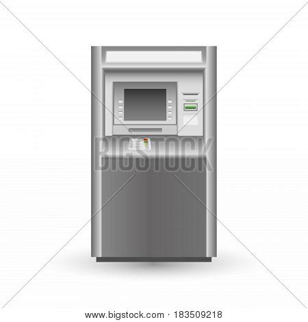 ATM isolated on white background Vector illustration. Eps 10