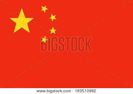 China flag vector. Vector illustration. Eps 10.