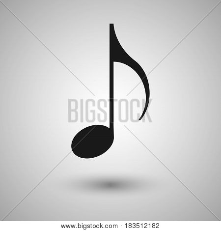 Music note Icon isolated on white background. Vector illustration. Eps 10.
