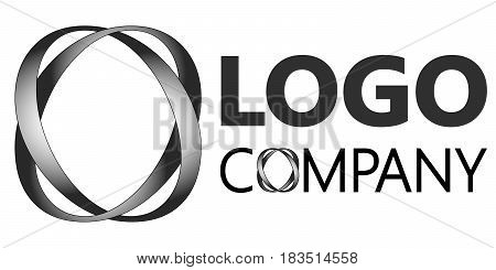 Two intertwining letters o realistic lighting in 3D logo corporate identity, markenting firm, funds service, investment Infinity logo. Vector