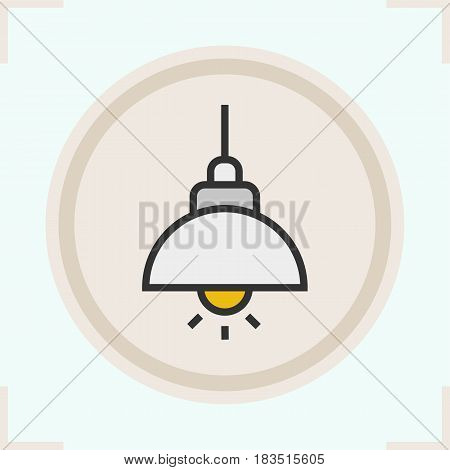 Ceiling lamp color icon. Isolated vector illustration