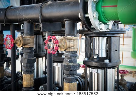 Control valve of water pump house., Equipment