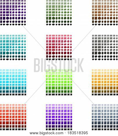 Illustration of Tile and Stone Color Palette Samples Collection