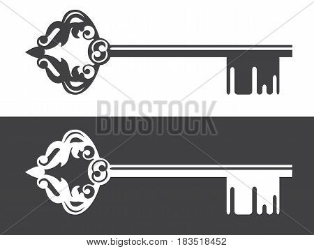 Illustration of Realty Logo Decorated Vintage Key