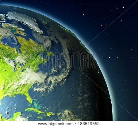 East Coast Of North America From Orbit