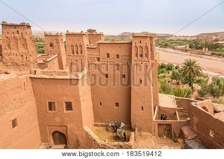 View at the Ksar in Kasbah Ait Benhaddou in Morocco