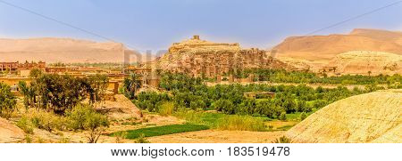 Panoramic view at the Ait Benhaddou village in Morocco