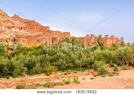View at the Kasbah Ait Benhaddou in Morocco