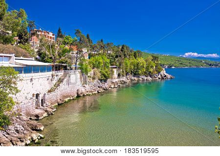 Opatija Riviera Beach And Coastline View
