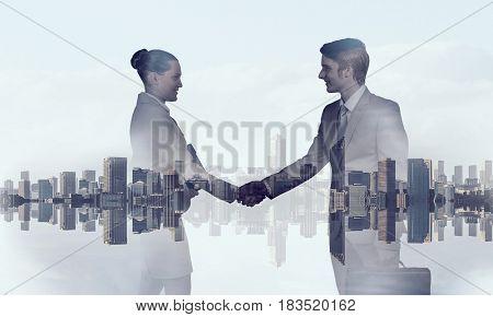 Partners agreement handshake