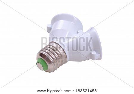 Light Bulb Socket Splitter isolated on white background.