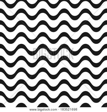 Copacabana waves pattern Vector illustration. Eps 10.