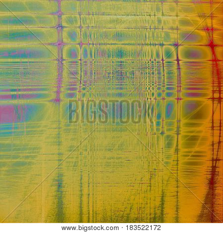 Traditional grunge background, scratched texture with vintage style design and different color patterns: yellow (beige); gray; pink; blue; red (orange); purple (violet)