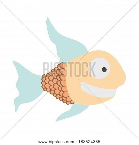 light colours silhouette of fish with long fins vector illustration