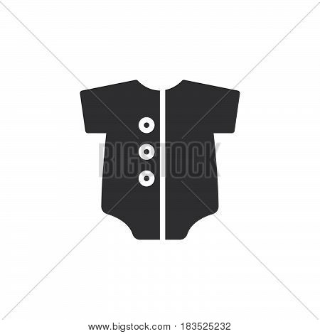 Baby romper icon vector filled flat sign solid pictogram isolated on white. Symbol logo illustration. Pixel perfect