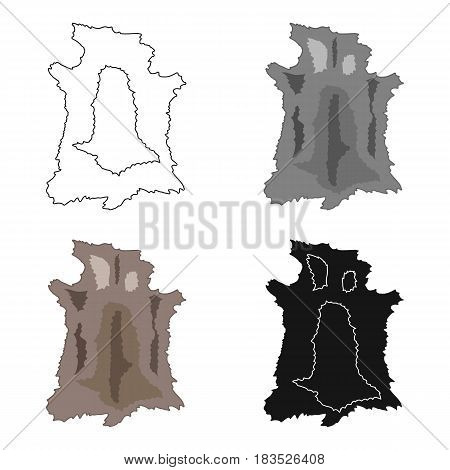 Animal hide icon in cartoon style isolated on white background. Stone age symbol vector illustration.