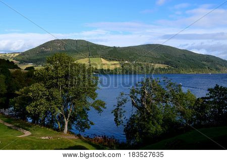 A lovely look at the rolling hills surrounding Loch Ness in Scotland.