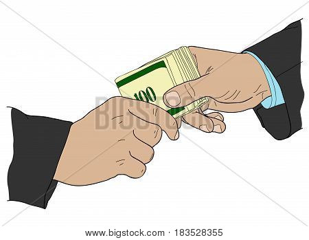 Corruption money politics agreement finance colorful illegal