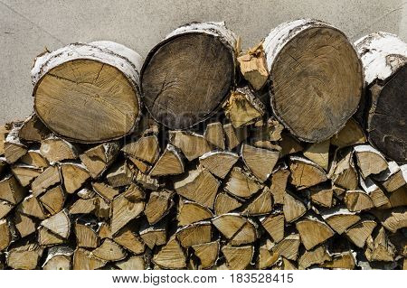 woodpile with firewood