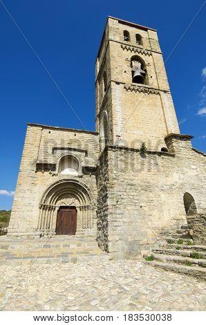 Romanesque church, Nuestra Senora de Baldos, Montanana, Huesca Province, Aragon in Spain.