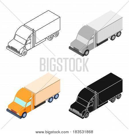 Truck icon in cartoon design isolated on white background. Transportation symbol stock vector illustration.