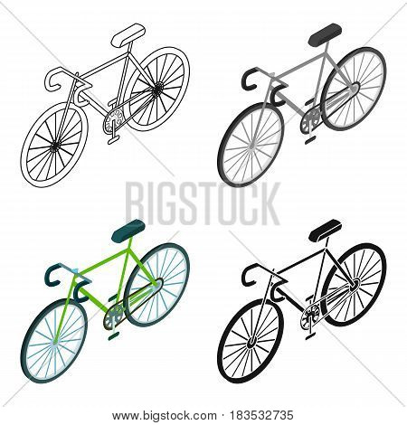 Bicycle icon in cartoon design isolated on white background. Transportation symbol stock vector illustration.