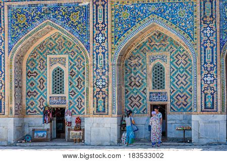 Shops In Atrium Of Registan, Samarkand, Uzbekistan