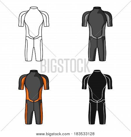 Wetsuit icon in cartoon design isolated on white background. Surfing symbol stock vector illustration.